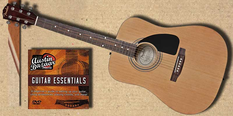 4f36faec25 Fender FA-100 Guitar Review: Dreadnought Acoustic Guitar Bundle (2018)