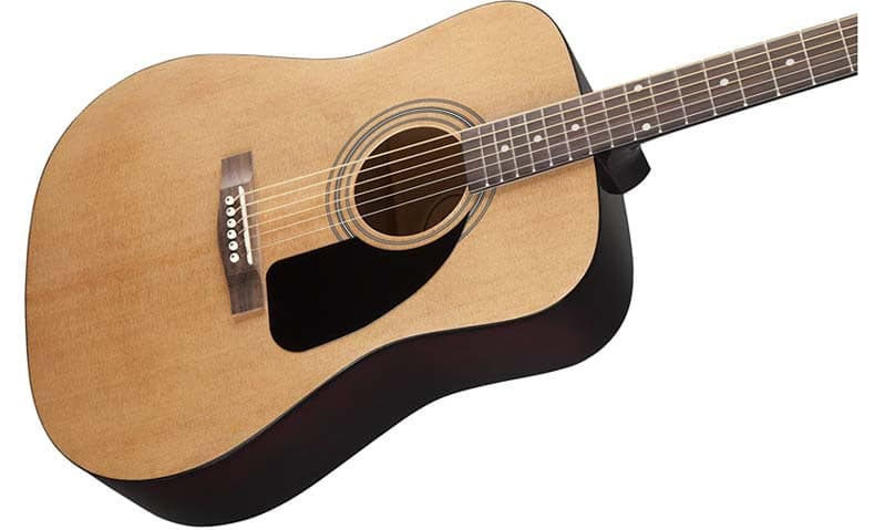 5 best acoustic guitars for beginners dreadnought guitar guides of 2018. Black Bedroom Furniture Sets. Home Design Ideas